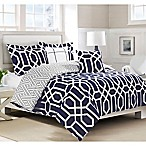 Boho Living Runa 5-Piece Full/Queen Comforter Set in Navy/Grey