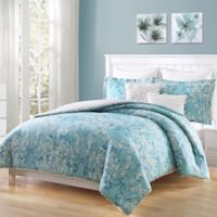 Carmela Home Finley Pom Pom 7-Piece Full/Queen Comforter Set in Aqua