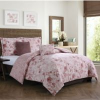 Boho Living Moonlight Reversible 5-Piece King Comforter Set in Blush
