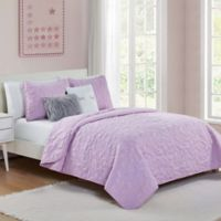 VCNY Home Happy Dreamer 4-Piece Twin Quilt Set in Lilac