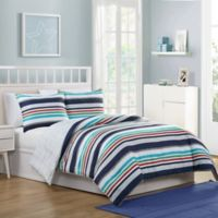 VCNY Home Cosmic Stripe Reversible 3-Piece Full Comforter Set