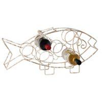 Home Essentials & Beyond 6-Bottle Fish Wine Rack in Gold