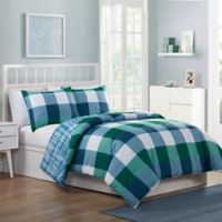 VCNY Home Quest 3-Piece Reversible Full Comforter Set in Blue