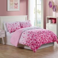 VCNY Home Cascade Bliss Reversible 2-Piece Twin Comforter Set in Pink