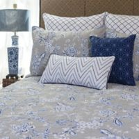 Annabelle Reversible Twin Quilt in Blue