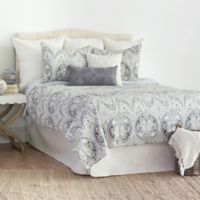 Nazima Reversible King Quilt Set in Grey
