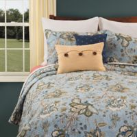 Bethany Reversible King Quilt Set in Blue