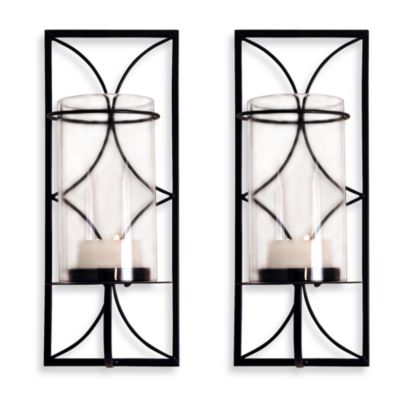 Wall Sconces Bed Bath Beyond : San Miguel Centre Wall Sconces (Set of 2) - Bed Bath & Beyond