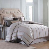 Charisma Rhythm 4-Piece Queen Comforter Set in Beige and Gold