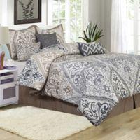 Farren 7-Piece Queen Comforter Set in Taupe