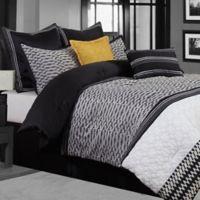 Gigi Geometric Queen 8-Piece Comforter Set in Black