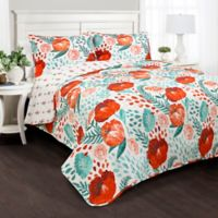 Lush Decor Poppy Garden Full/Queen Quilt Set