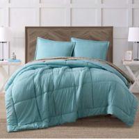 Brooklyn Loom Jackson King Comforter Set in Stone Blue