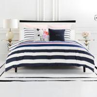 kate spade new york Chesapeake Stripe Reversible Twin XL Comforter Set in Navy