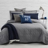 Milo Jersey Twin/Twin XL Quilt Set in Grey
