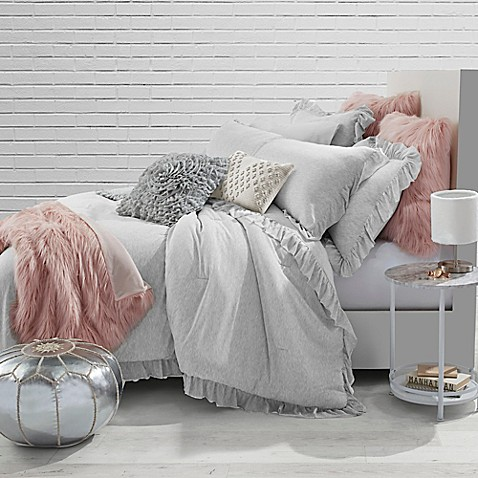image of Jersey Knit Ruffle Comforter Set