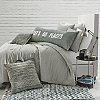 Stripe Jersey Full/Queen Comforter Set in Grey