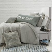 Stripe Jersey Twin/Twin XL Comforter Set in Grey