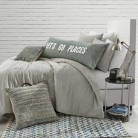 Stripe Jersey Twin/Twin XL Comforter Set in Grey