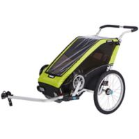 Thule® Chariot Cheetah XT 1 for Cycle-Stroll in Chartreuse/Black