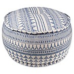 Style Co-op® Mason Round Tribal Print Pouf in Navy