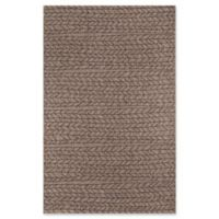 Momeni Como Herringbone 9'10 x 13'2 Indoor/Outdoor Area Rug in Tan