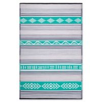 Fab Habitat Ibiza 4' x 6' Indoor/Outdoor Area Rug in Green/Multi