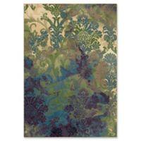 Orian Rugs Mardi Gras Flotty Woven 5'3 x 7'6 Area Rug in Green
