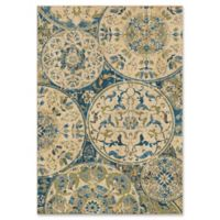 Orian Rugs Mardi Gras Ceramic Layers Woven 7'10 x 10'10 Area Rug in Light Blue