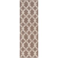 Surya Gable Moroccan Trellis 2'6 x 8' Runner in Neutral/Brown