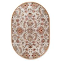 Surya Caesar Classic Hand-Tufted 6' x 9' Oval Area Rug in Pink/Brown