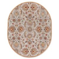 Surya Caesar Classic Hand-Tufted 8' x 10' Oval Area Rug in Pink/Brown