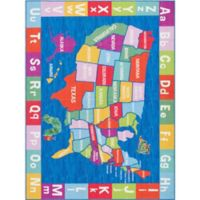 Home Dynamix Elementary USA Multicolor 4'11 x 6'6 Area Rug
