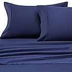 Heartland® HomeGrown™ 400-Thread-Count Solid Sateen Full Sheet Set in Navy