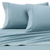 Heartland® HomeGrown™ 400-Thread-Count Solid Sateen Queen Sheet Set in Seafoam