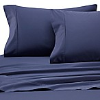Heartland® HomeGrown™ 400-Thread-Count Solid Sateen King Sheet Set in Blue Jean
