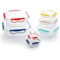 ClipFresh 16-Piece Square Food Container Set in Multi
