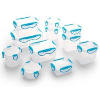 ClipFresh 22-Piece Food Container Set in Teal Blue