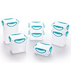 ClipFresh 14-Piece Food Container Set in Teal Blue