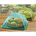 Stainless Steel Food Tent in Green and Blue (Set of 2)