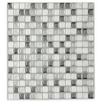 Achim Magic Gel Glass Tile in Silver