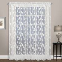 Madame 84-Inch Rod Pocket Window Curtain Panel in White