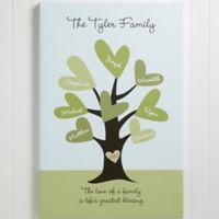 Leaves of Love Family Tree Canvas Print