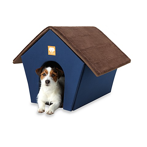 Microdry® Ultimate Luxury Pet House in Navy/Dark Chocolate
