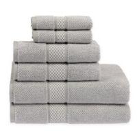Sadem Contemporary 6-Piece Bath Towel Set in Silver