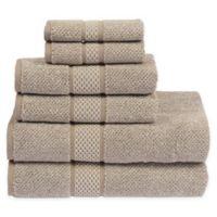 Sadem Contemporary 6-Piece Bath Towel Set in Taupe