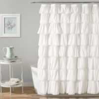 Lush Décor Emily 72-Inch x 84-Inch Shower Curtain in White