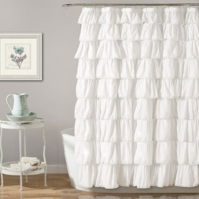 Lush Decor Emily 72 Inch X 96 Shower Curtain In White