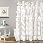 Lush Décor Emily 72-Inch x 96-Inch Shower Curtain in White
