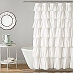 Lush Décor Emily 54-Inch x 78-Inch Shower Curtain in White